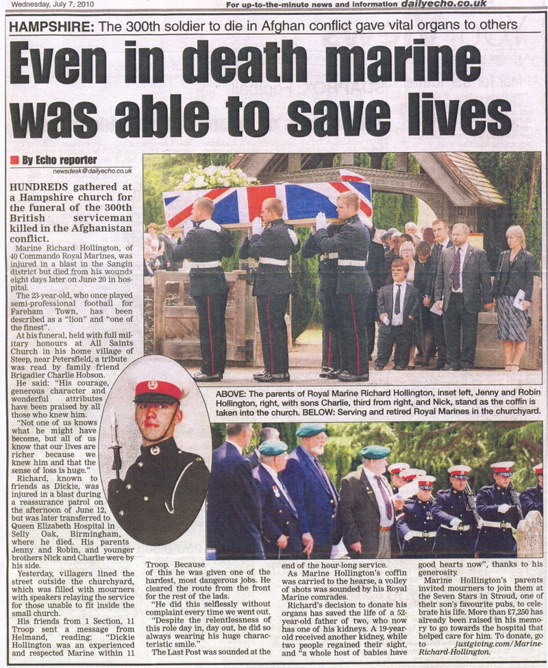 Royal Marines pay their respects